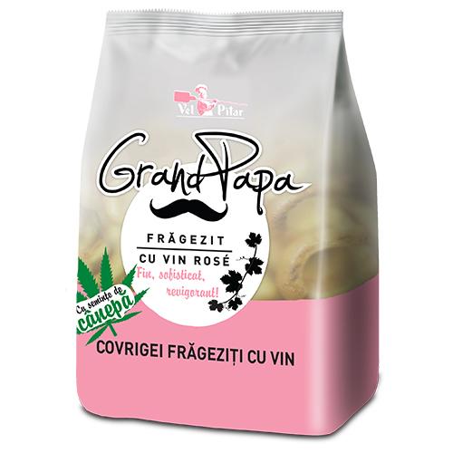 Grand Papa Covrigei frageziti cu vin rose