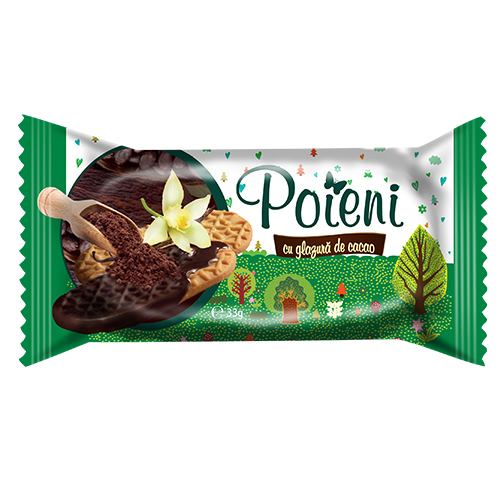 Poieni Biscuiti cu glazura de cacao