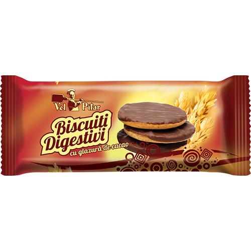 Vel Pitar Biscuiti Digestivi cu glazura de cacao